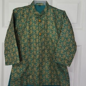 Other - Kids Kurta - Size 3 Teal and Gold